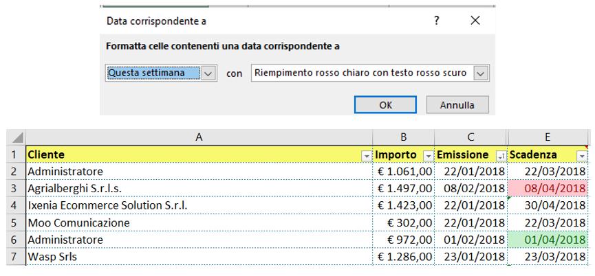 Calendario Dinamico Excel.Excel Lavorare Con Le Date